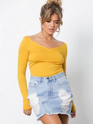 NLY Trend Destroy Skirt Blue Wash