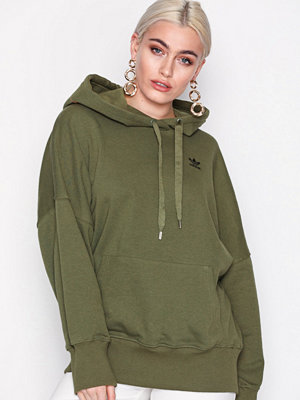 Street & luvtröjor - Adidas Originals Hoodie Graphic Olive