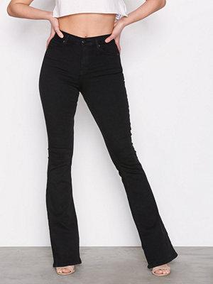 Topshop Jamie Flare Jeans Black