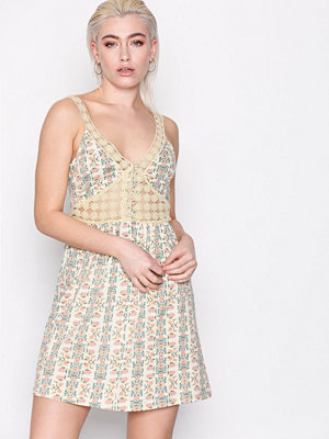 Topshop Crochet Printed Sundress