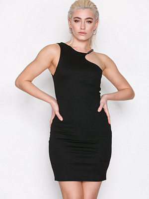 Topshop Chain Curve Mini Bodycon Dress Black