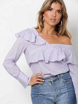 NLY Trend Feminine Frill Shirt Blå/Vit