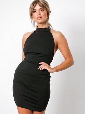 Missguided Halterneck Backless Midi Dress Black