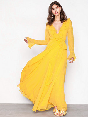 NLY Eve Deep Plunge Neckline Gown Flame