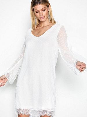 Only onlDREAM Dobby L/S Dress Wvn Vit
