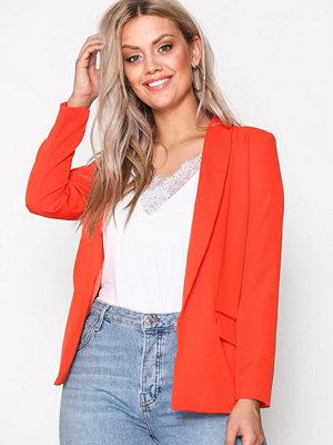 Missguided Crepe Blazer Orange