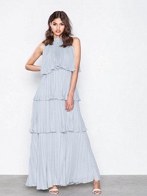 True Decadence High Neck Frill Dress Mint