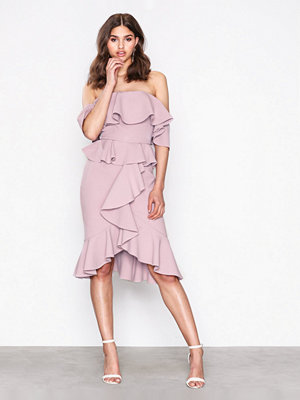 True Decadence Off Shoulder Frill Dress