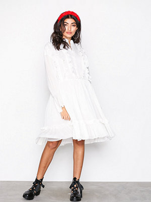Glamorous Long Sleeve Dress White