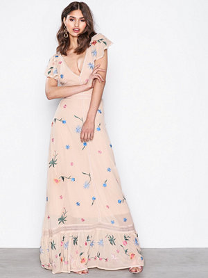 Glamorous Flower Dress Beige