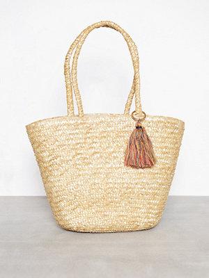 Only onlNIF Straw Beach Bag Natural