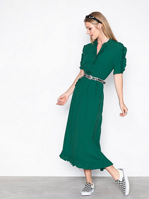 Object Collectors Item Objanny S/S Ruffle Long Dress a Sp Grå