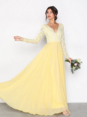U Collection Long Sleeve Detail Dress Yellow