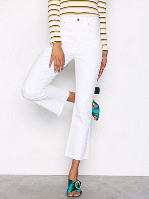 Gina Tricot Nicole Kickflare Jeans Offwhite
