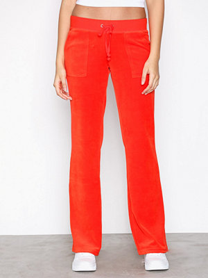 Juicy Couture röda byxor Velour Del Rey Pant Bright Red