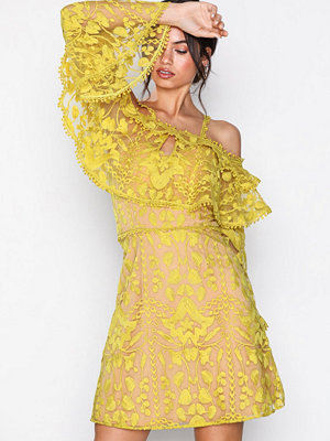 U Collection Cold Shoulder Dress Yellow