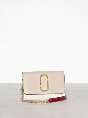 Marc Jacobs beige axelväska Wallet On Chain Slate