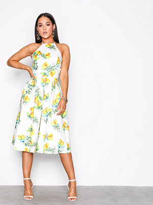 NLY One Cross Back Midi Dress Citron