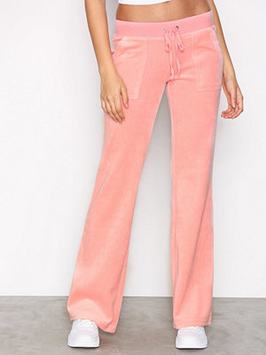 Juicy Couture gammelrosa byxor Velour Del Rey Pant Pink