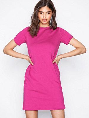 NLY Trend Basic Tee Dress Fuchsia