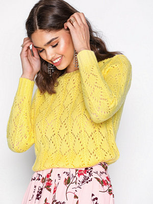 Sisters Point Pretty Knitted Sweater Yellow