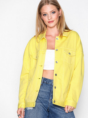 Jeansjackor - Vero Moda Vmolivia Ls Oversized Color Jacket Gul