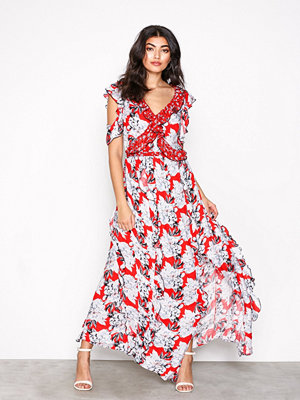 River Island Ruffle Maxi Dress Red