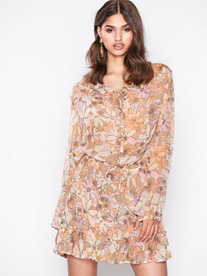 For Love & Lemons Maritza Floral Bell Sleev Floral