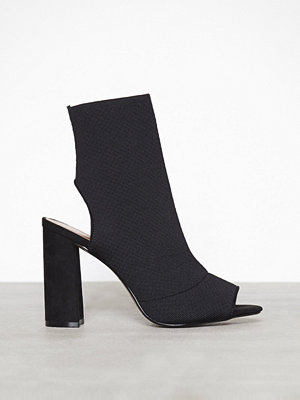 Topshop Block Heel Sock Boots Black