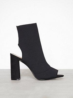 Pumps & klackskor - Topshop Block Heel Sock Boots Black