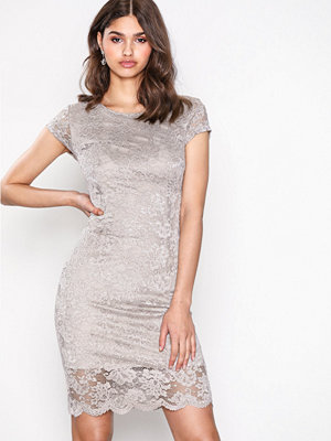 Selected Femme Sfcharlotte New Cap Lace Dress Ex Ljus Grå