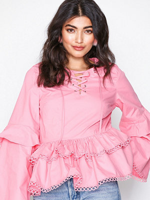 Glamorous L/S Frill Blouse Pink