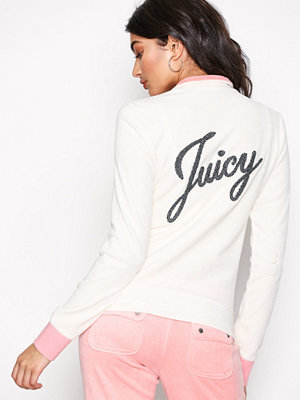 Juicy Couture Juicy Shimmer Script Velour Fairfax Jckt Natural