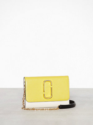 Marc Jacobs gul axelväska Wallet On Chain Sunshine