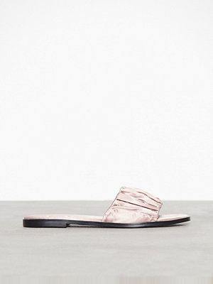 Topshop Heartbreaker Ruched Sliders Light Pink