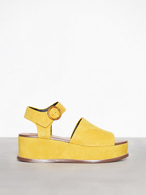 Topshop Platform Wedge Sandals Yellow