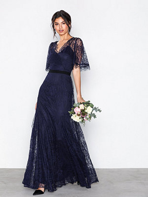 U Collection Lace Detail Maxi Dress Navy