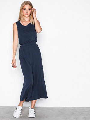 Object Collectors Item Objgabbie S/L Long Dress 96 Mörk Blå