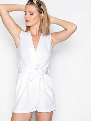 Sisters Point Gram Playsuit White