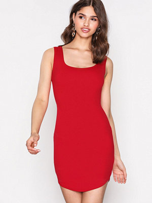 Missguided Scuba Bodycon Dress Red