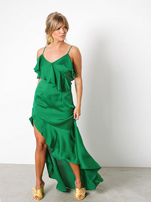 NLY Trend Asymmetric Frill Dress Grön