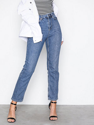 Jeans - Topshop MTD Straight Jeans Mid Blue