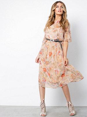 Vila Vimouna S/S Medi Dress Peach