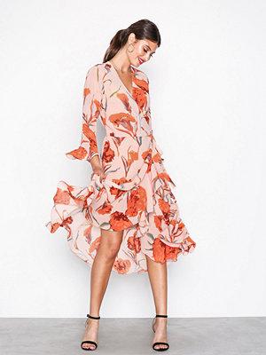 Y.a.s Yascacco Wrap Dress Ljus Rosa