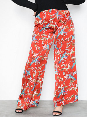 NLY Trend röda byxor med tryck Wide Palazzo Pants