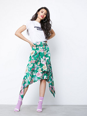 NLY Trend Asymmetric Hem Skirt Grön/Mönstrad