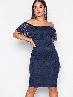 NLY One Lace Bardot Dress Navy