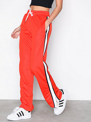 Topshop omönstrade byxor Popper Track Pants Orange