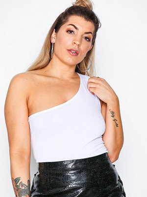NLY Trend One Shoulder Tie Top Vit