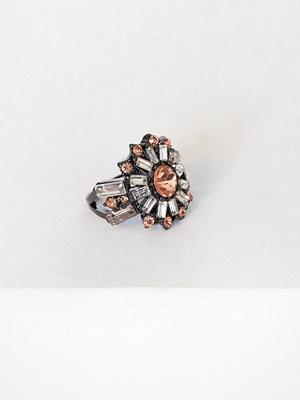 NLY Accessories Mega Crystal Ring Flerfärgad